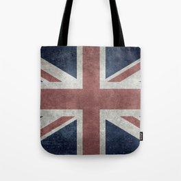 UK Flag, Retro Desaturated 1:2 scale Tote Bag