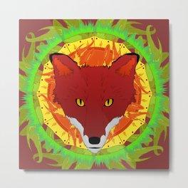 Summer Fox Metal Print