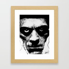 Karloff as The Mummy Framed Art Print