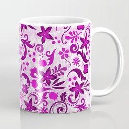 Deep Floral Pink Coffee Mug