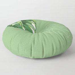house monstera Floor Pillow