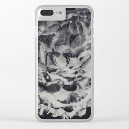 Desert Rose in Black and White Clear iPhone Case