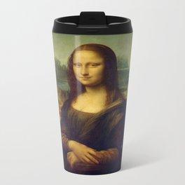 Mona Lisa Metal Travel Mug