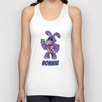 fnaf Tank Tops featuring Bonnie Plush by Silvering