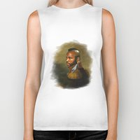 replaceface Biker Tanks featuring Mr. T - replaceface by replaceface