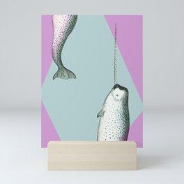 Narwhal Geometric Bright and Colorful Mini Art Print