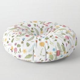 Bees in spring Floor Pillow