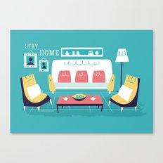 :::Minimal living room::: Canvas Print