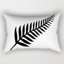 Silver Fern of New Zealand Rectangular Pillow
