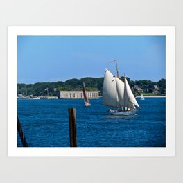 Sailboats in Portland, Maine Art Print