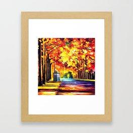 Tardis Stay Alone Framed Art Print