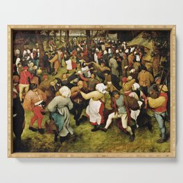 Pieter Bruegel The Elder - The Wedding Dance Serving Tray