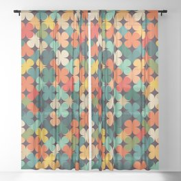 Lucky Clover Sheer Curtain