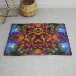 Psychedelic kaleidoscope cloud pattern Rug
