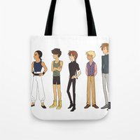gundam Tote Bags featuring kid pilots by Puck