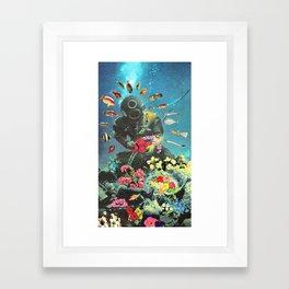 Underwater Flora Framed Art Print