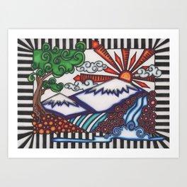 mountain hue Art Print