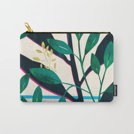 Very Bright Botanical Greet Street Pattern Carry-All Pouch