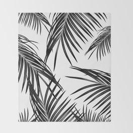 Black Palm Leaves Dream #1 #tropical #decor #art #society6 Throw Blanket
