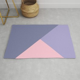 07 Pink and violet triangles graphic pattern Rug
