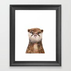 Little Otter Framed Art Print