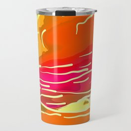 abstract style aurora borealis absstdi Travel Mug