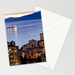 Voyeuristic 1535 Vancouver Cityscape English Bay Stationery Cards