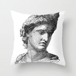 Portrait of Apollo Belvedere Throw Pillow