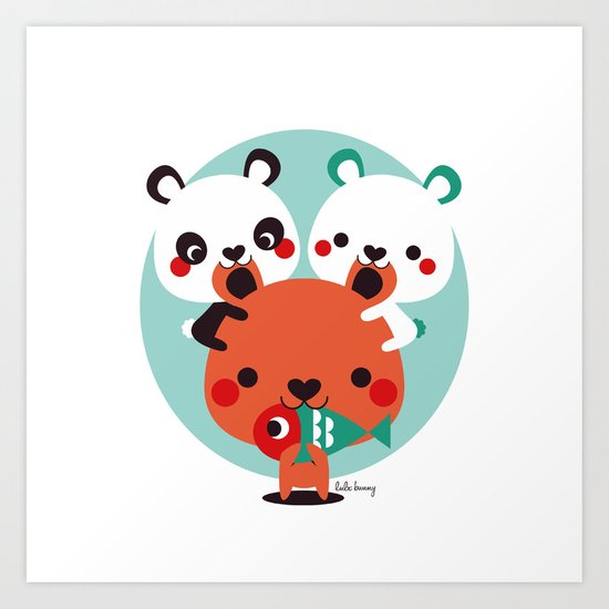 Un montón de osos Art Print