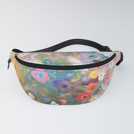Mixed bouquet of flowers Fanny Pack