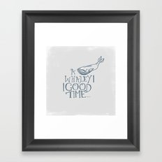 A Whaley Good Time Framed Art Print