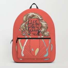 Live Fast Die Young Backpack