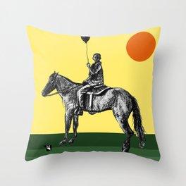 Caballeros in the sun Throw Pillow