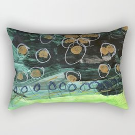 Lisa's Night Wishes with Gold Stars in the Dark Sky Rectangular Pillow