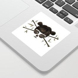 Pirate Panda Sticker