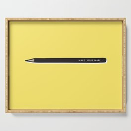 Make your mark pencil Serving Tray