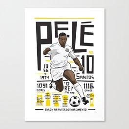Pelé - Santos FC  Canvas Print