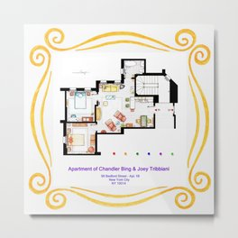 Apartment of Chandler and Joey from FRIENDS Metal Print
