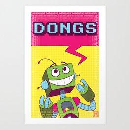 DONGS.EXE Art Print