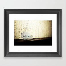 Hello Rain Framed Art Print