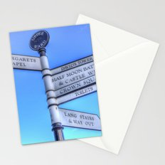 Edinburgh Castle Directions Post Stationery Cards