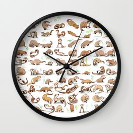 Otters collection Wall Clock