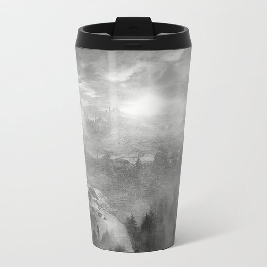 Black and White - Wish You Were Here (Chapter I) Metal Travel Mug