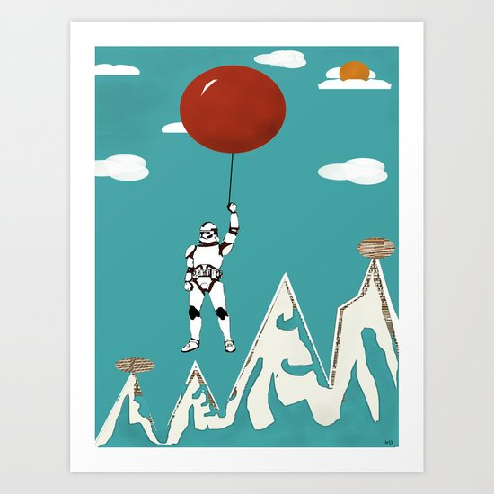 cloud trooper Art Print