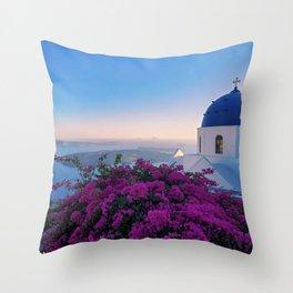 The Beauty of Santorini Throw Pillow