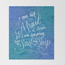 Sail My Ship Throw Blanket