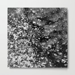 Cracked, Sparkling Black Ice Metal Print