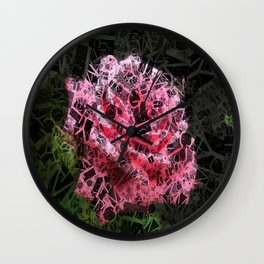 Pink Roses in Anzures 4 Letters 2 Wall Clock