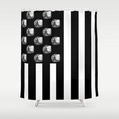 US MiniFigure Flag - Vertical Shower Curtain