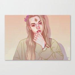 Opened third eye Canvas Print